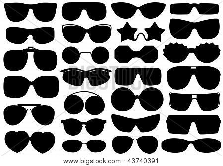 Different sunglasses