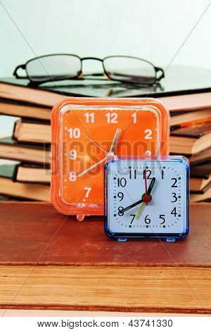 Alarm Clock And Books.