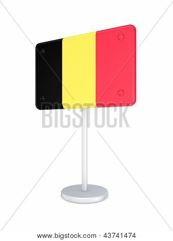 Bunner with flag of Belgia.