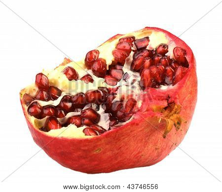Part Of Fresh Red Pomegranate