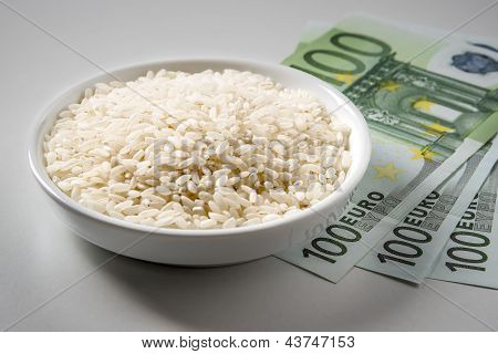 Rice With Three Hundred Euro