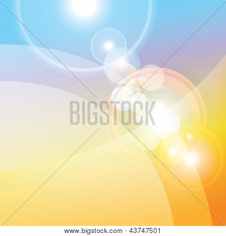 Colorful Abstract Background, Lenses Flare Effect