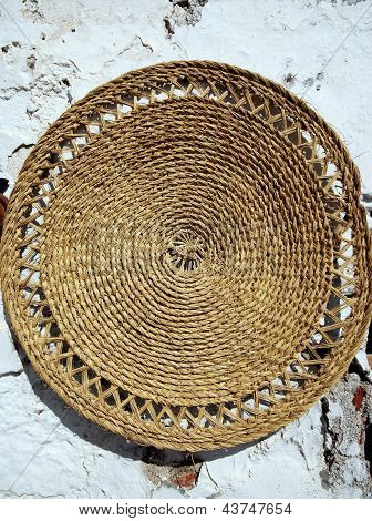 Traditional Spanish wicker mat.