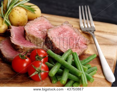 Sliced Steak Dinner