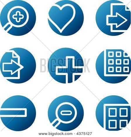 Image Viewer Web Icons, Blue Circle Series