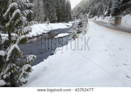 Mountain Winter Driving, British Columbia