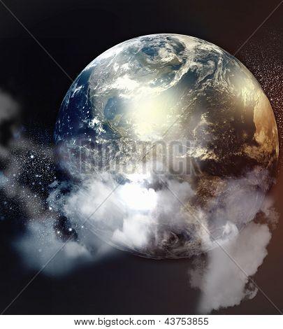 Imagem dos planetas no espaço