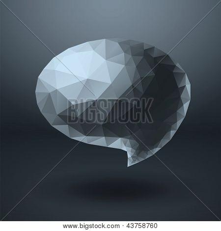 Crystal shapes speech bubble