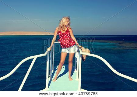 The Girl On The Yacht