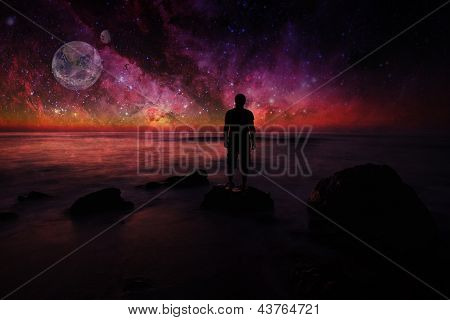 Man Looking Space