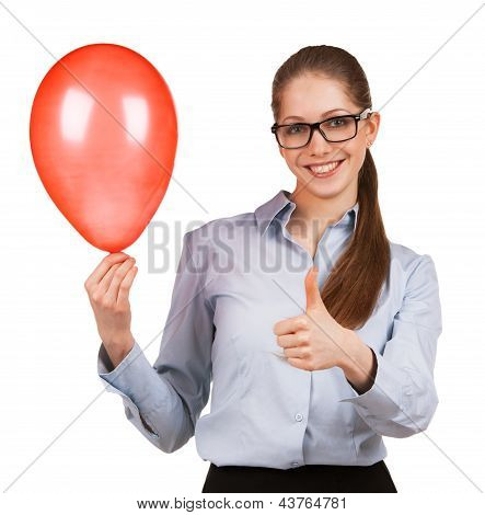 Girl With Inflated Balloon Shows That All Great