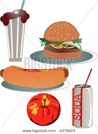 Fastfood deluxe illustration