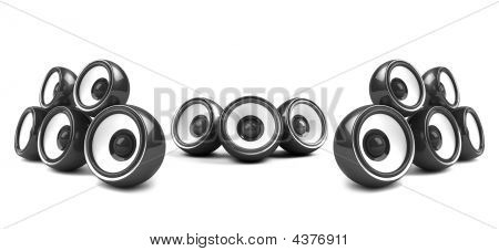 Black High-power Audio System