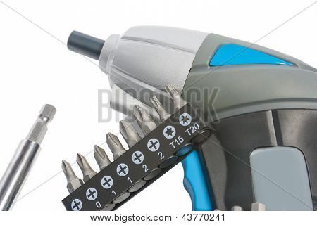 Electric Accumulator Screwdriver With Spare Tools