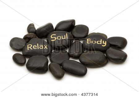 Black Spa Massage Stones