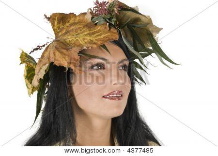 Herbst Mädchen Wegsehen