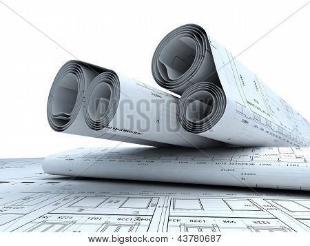Architektur-Pläne