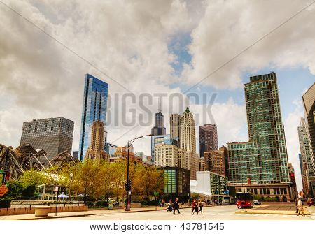 Cityscape Of Chicago With The Willis Tower (sears Tower)