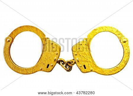 Gold handcuff