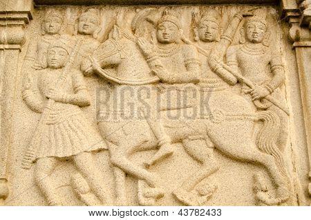 Warrior Buddha on Horseback Frieze