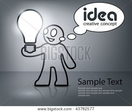 Man With Bulb In Grey