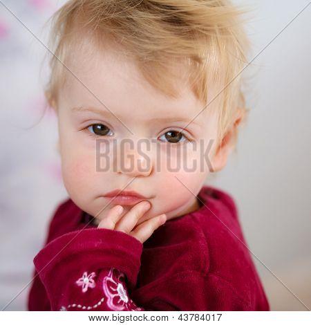 Baby Girl After Sleep