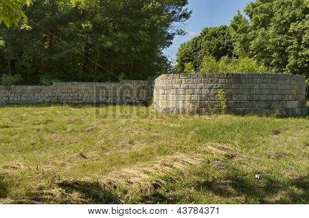 Fortified wall of Peristyl complex Abritus