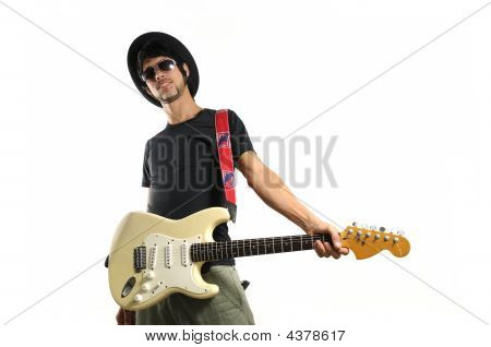 Funky Guitarist Isolated
