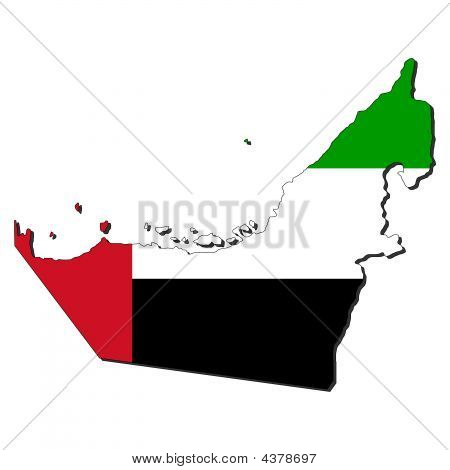 Map Flag Of Uae