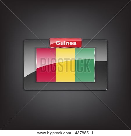 Glass Button Of The Flag Of Guinea