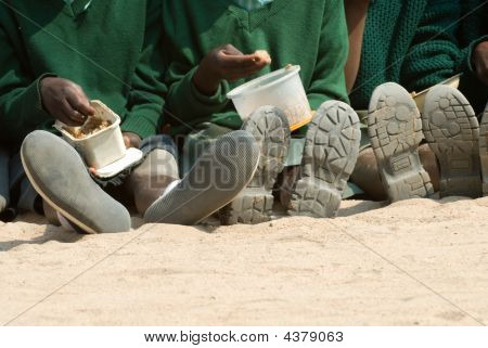 Kids at a school in Zimbabwe