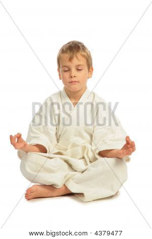 Karate Boy Meditates