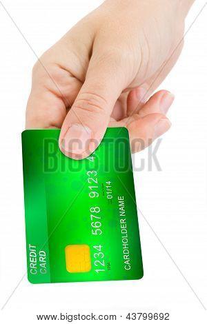 hand geven creditcard