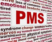 stock photo of menses  - PMS medical poster design - JPG