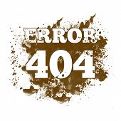 stock photo of not found  - Image of 404 not found with spatter - JPG