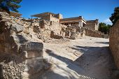 foto of minos  - Knossos palace at Crete Greece is the largest Bronze Age archaeological site on Crete - JPG