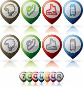 stock photo of luge  - 4 icons  - JPG