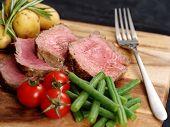Sliced Steak Dinner