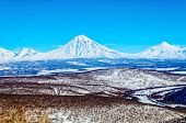 Russia, The Kamchatka Peninsula. Freeride Skiing On Volcanoes.