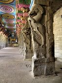 stock photo of meenakshi  - The Sri Meenakshi Sundareswarar Temple is a historic Hindu temple in the temple city of Madurai - JPG