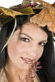 Smiling Autumn Girl