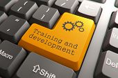 pic of keyboard keys  - Training and Development - JPG