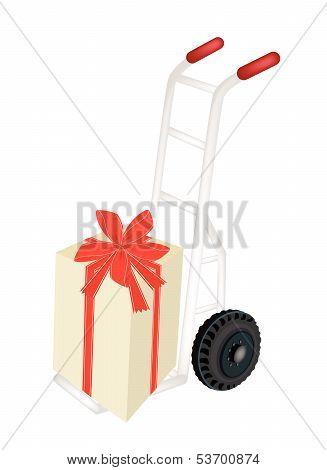 Hand Truck Loading A Beautiful Gift Box