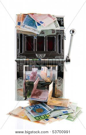 Slot machine with European currency