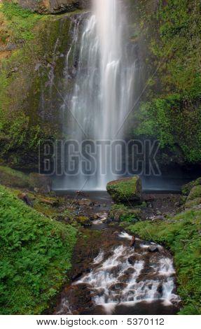 Lower Part Of Multnomah Falls