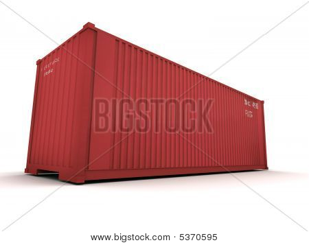 Cargo Container Red