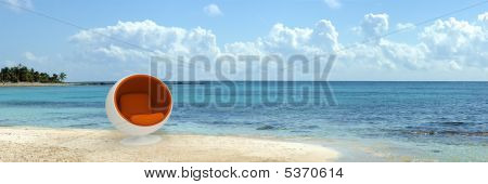 Designer Seat In Tropical Beach