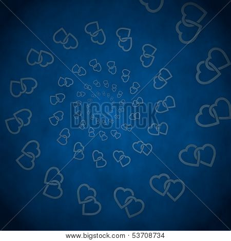 3D Render Of A Soft Two Hearts Label  On Vintage Background
