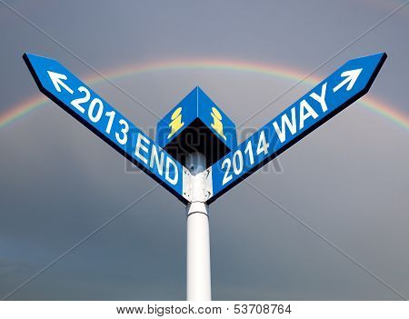 2013 End And 2014 Way Signs