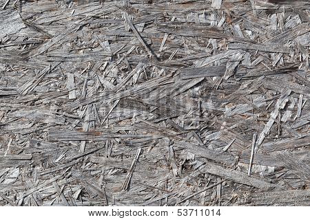 Natural Old Gray Weathered Veneer Plywood Detailed Background Texture
